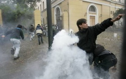Detenidos unos 500 estudiantes durante protestas en Chile contra proyecto de ley