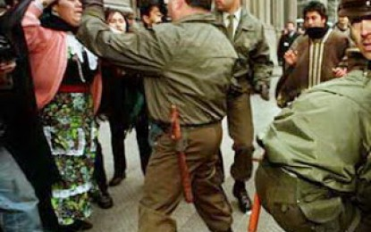Estado chileno como en dictadura con el pueblo mapuche