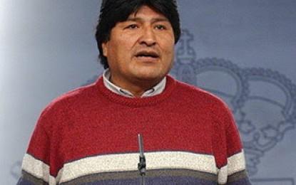 Presidente Morales agradece solidaridad y respaldo de la comunidad internacional