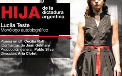 """Lucila Teste es una """"hija de la dictadura Argentina"""""""