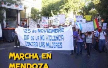 Mirá el video de la marcha del Día de no violencia hacia las mujeres en Mendoza
