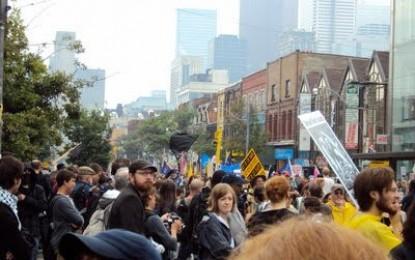 Medidas preventivas terroristas en Canadá contra protestas por cumbre mundial