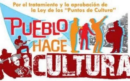 El martes 30 de noviembre: marcha por la aprobación de la ley puntos de cultura