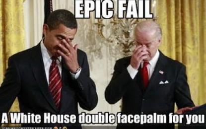 Presidente Obama recibe bofetada en camino hacia su perdición