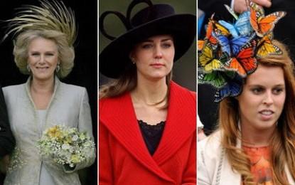 Escandalosa alharaca de medios de comunicación con una boda sobresaliente en sombreros estrafalarios