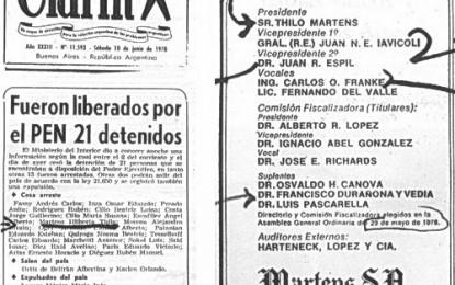 """""""Dinero nazi"""", dos avisos de Clarín y la hija de Videla"""