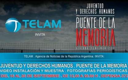 Télam invita: Puente de la Memoria. Juventud y derechos humanos