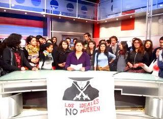 Mirá el video de estudiantes chilenos que tomaron canal de televisión el miércoles 26 de octubre