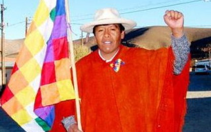 El 23 de octubre Sergio Osvaldo Laguna ganó la intendencia de ciudad de El Aguilar, departamento de Humahuaca, Jujuy