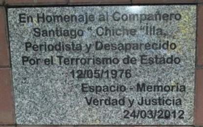 Emotivo acto recordó a Santiago Chiche Illa, periodista desaparecido en la dictadura