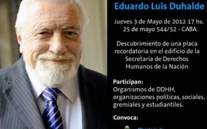 Homenaje a Eduardo Luis Duhalde