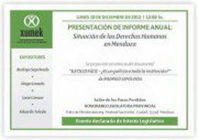 Presentación de Informe anual sobre los derechos humanos en Mendoza