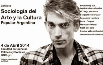 Cátedra libre en la Universidad nacional de Cuyo. Sociología del Arte y la Cultura Popular Argentina