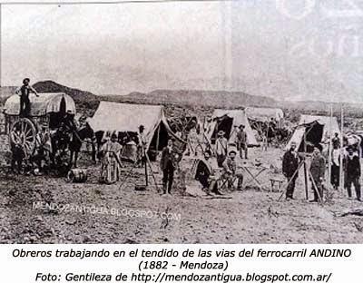 El primer tren en Mendoza