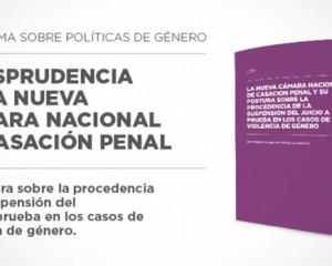El Programa sobre Políticas de Género sistematizó jurisprudencia de la nueva Cámara de Casación Penal
