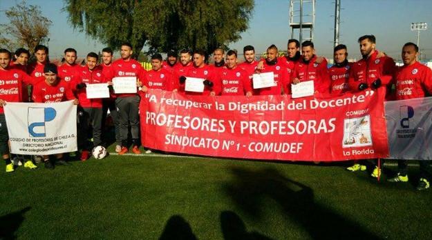 Chile: profesores en huelga recibieron el apoyo de la Selección Nacional
