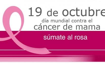 Recordarán el día de internacional de la lucha contra el cáncer de mama