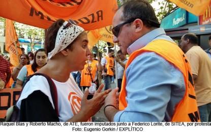 Impulsada por Cornejo, una fiscal imputó a tres líderes sindicales por la marcha de los estatales contra el ajuste y los despidos