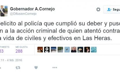 Cornejo: felicitaciones y demagogia