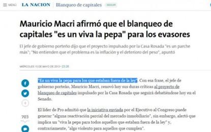 El pasado lo condena: ¿Qué opinaba Macri sobre el blanqueo en 2013?
