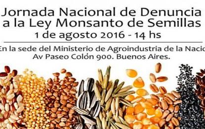 Argentina: Jornada Nacional de denuncia a la nueva Ley de Semillas