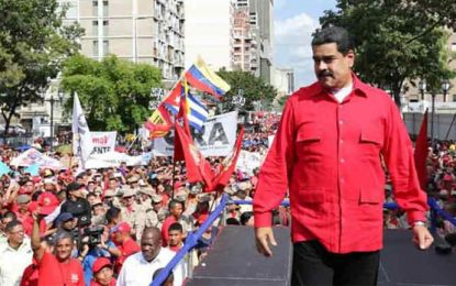 Apoyo popular al presidente Maduro signa semana en Venezuela