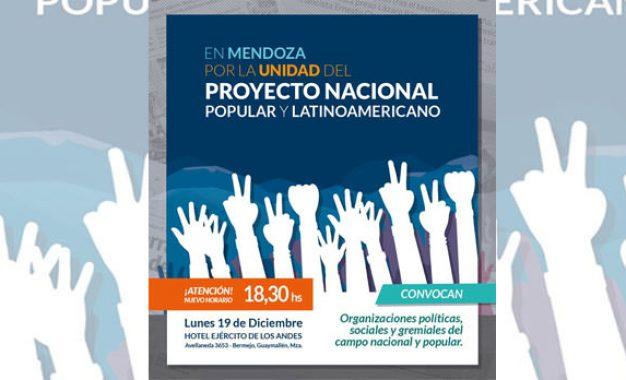 Acto por la unidad nacional, popular y latinoamericana