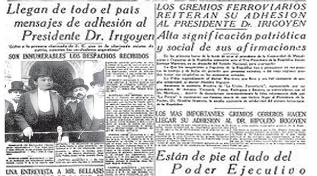 """El """"Diario de Irigoyen"""" y la imprescindible colegiación"""