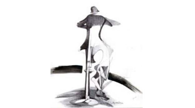 El hombre de la pata de mesa