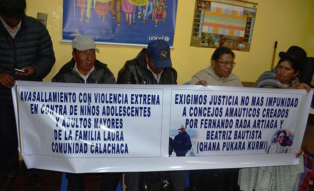 Chuñavi y varias comunidades conviven con la masacre diaria