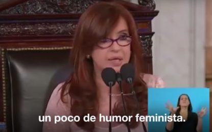 """El """"humor feminista"""" de la fórmula"""