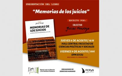 """Presentación del libro """"Memorias de los juicios por delitos de lesa humanidad"""
