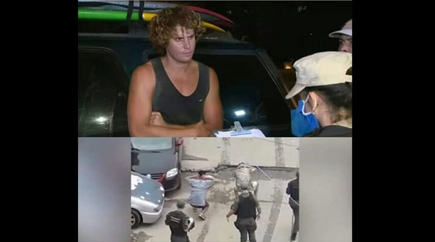 Cuarentena y policía